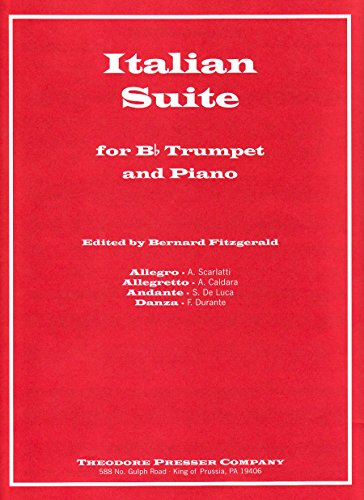 9781598066395: Italian Suite for B-Flat Trumpet and Piano