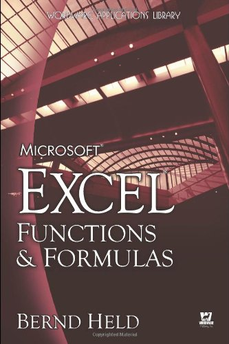 9781598220117: Microsoft Excel Functions & Formulas (Wordware Applications Library)