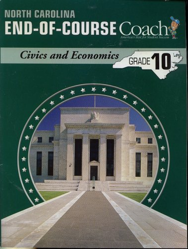 9781598230741: North Carolina End-of-Course Coach, Civics and Economics, Grade 10