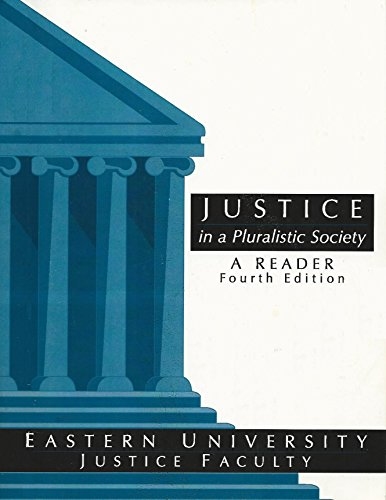 9781598303803: Justice in a Pluralistic Society A Reader - Fourth Edition