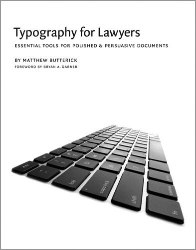 9781598390773: Typography for Lawyers