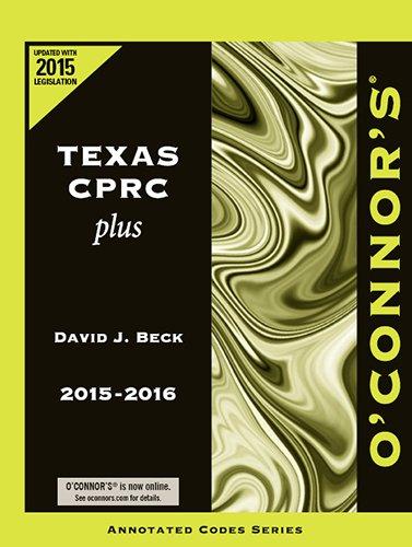 9781598392210: O'Connor's Texas CPRC Plus 2015-2016