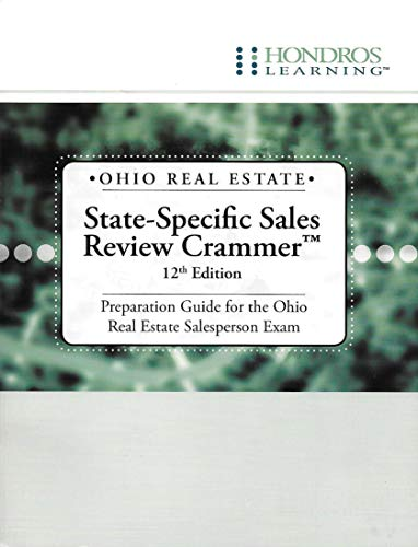 9781598440065: Ohio Real Estate State-Specific Sales Review Crammer: Preparation Guide for the Ohio Real Estate Salesperson Exam