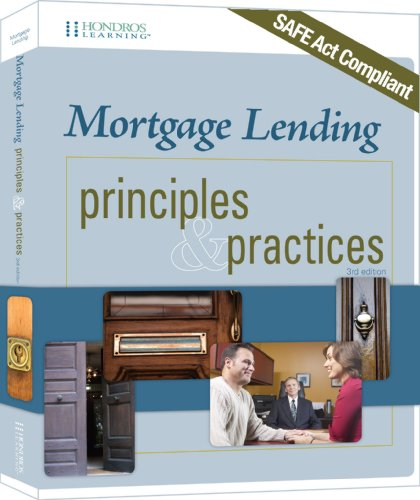 9781598441376: Mortgage Lending Principles & Practices, 3rd edition