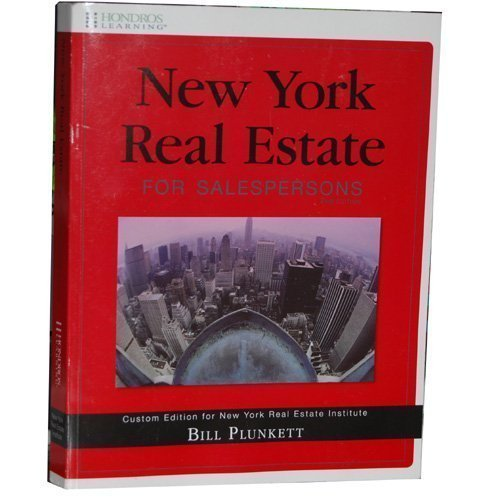 9781598441413: New York Real Estate for Salespersons (Custom Edition for New York Real Estate Institute)