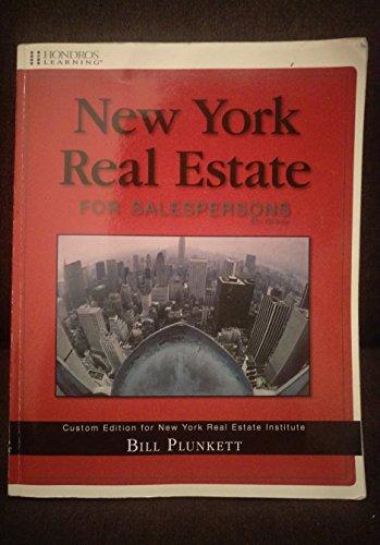 9781598442083: New York Real Estate for Salespersons (Custom Edition for New York Real Estate Institute)