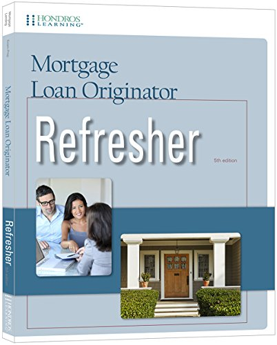 9781598442670: Mortgage Loan Originator Refresher, 5th edition