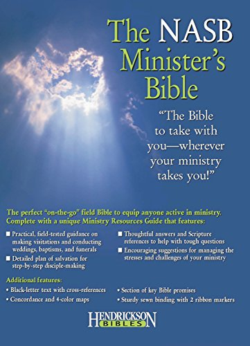9781598560060: The NASB Minister's Bible (Genuine Leather, Black)