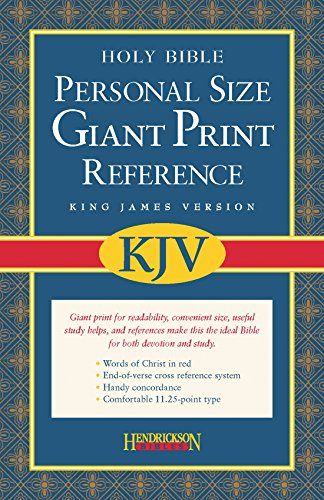 9781598560947: Holy Bible: King James Version, Black Imitation Leather, Personal Size, Giant Print, Reference