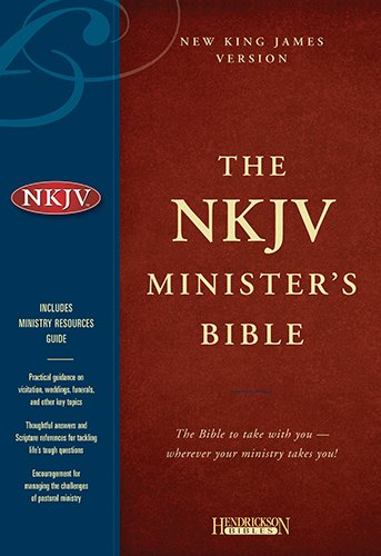 9781598561128: Holy Bible: New King James Version, Minister's, Black Genuine Leather
