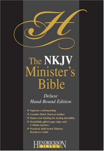 9781598561142: Holy Bible: New King James Version, Black Morocco Leather, Minister's, Deluxe