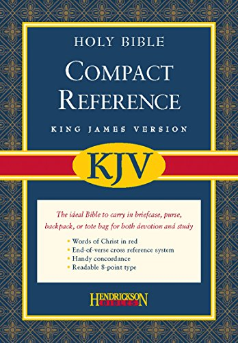 Compact Reference Bible-KJV-Magnetic Closure (Leather / Fine: Hendrickson Publishers