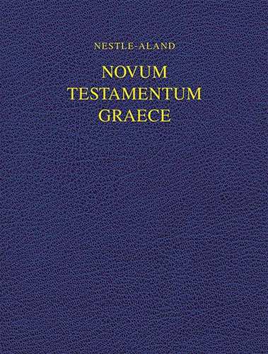 Nestle-Aland Novum Testamentum Graece-FL-Wide Margin (Greek Edition): German Bible Society