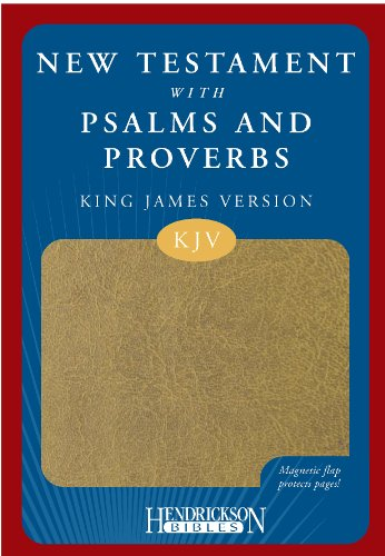 9781598562453: KJV New Testament with Psalms and Proverbs Tan Flexisoft, Magnetic closure