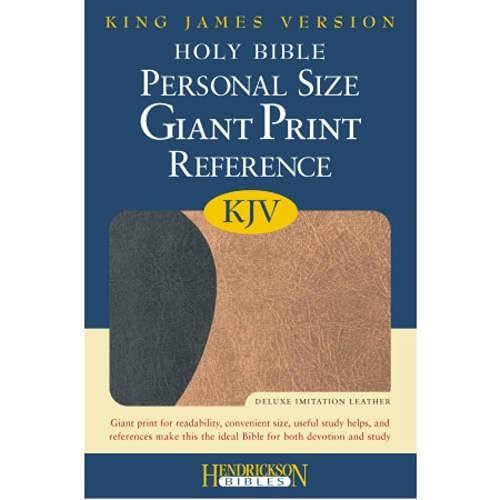 9781598562460: Holy Bible: King James Version, Personal Size Giant Print Reference Bible, Black on Tan Flexisoft