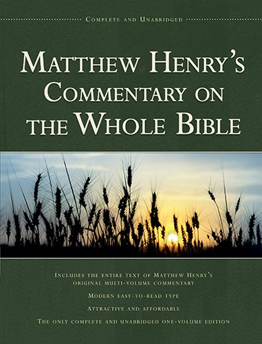 9781598562750: Matthew Henry's Commentary on the Whole Bible: Complete and Unabridged