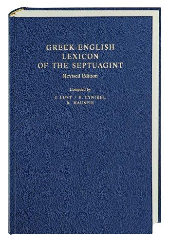 9781598562897: Greek-English Lexicon of the Septuagint (English and Greek Edition)