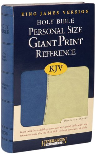 9781598563139: Holy Bible: KJV Personal Size Reference Bible, Blue / Green