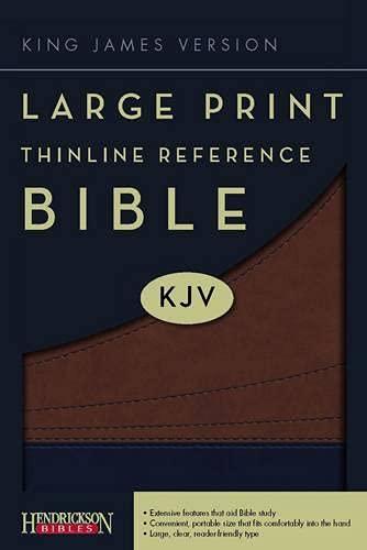 9781598564600: Large Print Thinline Reference Bible-KJV