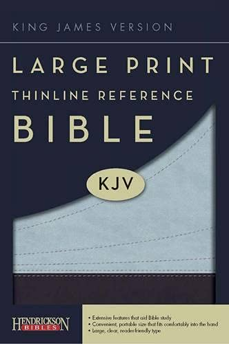 9781598564617: Large Print Thinline Reference Bible-KJV