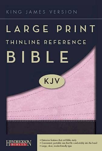 9781598564624: Large Print Thinline Reference Bible-KJV