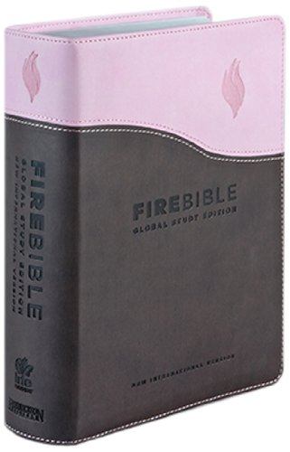 New International Version Fire Bible Chocolate/Pink Flexisoft: Donald Stamps (Editor),