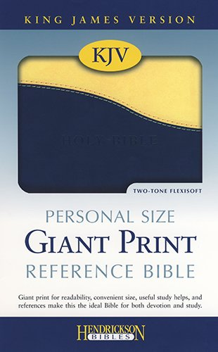 9781598565102: Holy Bible: King James Version, Blueberry/lemon, Flexisoft Leather, Personal Size Giant Print Reference Bible