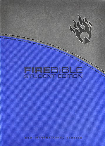 9781598565188: Fire Bible Student Edition: New International Version Gray / Blue Flexisoft Leather