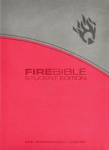 9781598565195: Fire Bible Student Edition: New International Version Gray / Pink Flexisoft Leather