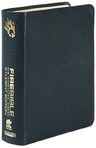 9781598565201: Fire Bible: New International Version Black Bonded Leather
