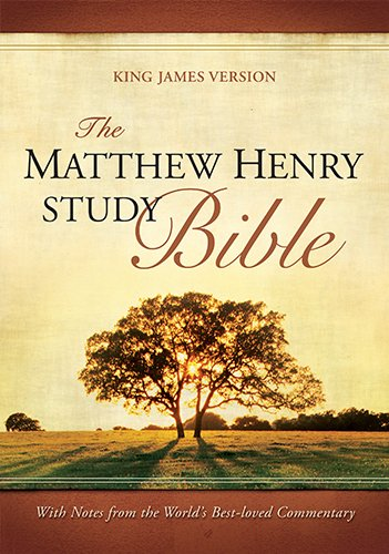 9781598565423: The Matthew Henry Study Bible: King James Version Mahogany On Brown Deluxe Flexisoft Leather