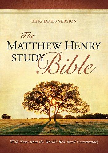 9781598565461: The Matthew Henry Study Bible: King James Version Black Flexisoft Leather