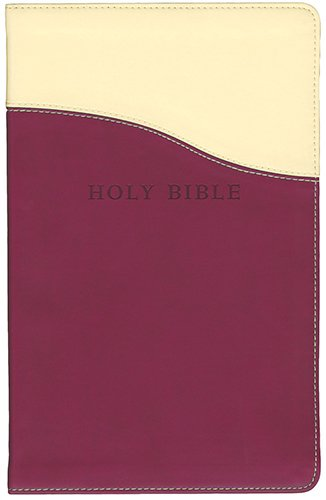 9781598565492: Holy Bible: King James Version Cream / Raspberry Flexisoft Leather Personal Size Giant Print Reference Bible