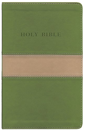 9781598565515: Holy Bible: King James Version Tan / Olive Flexisoft Leather Personal Size Giant Print Reference Bible