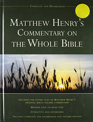 9781598566123: Matthew Henry's Commentary on the Whole Bible: Complete and Unabridged