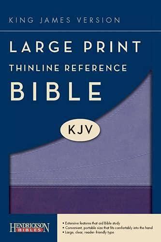 9781598566277: Large Print Thinline Reference Bible-KJV (Kjv Bible)