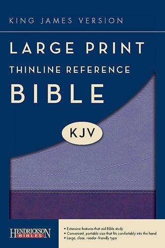9781598566284: Large Print Thinline Reference Bible-KJV