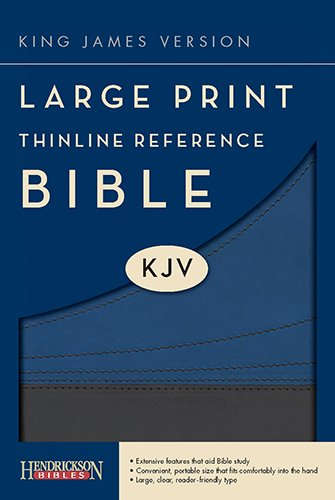 9781598566314: Large Print Thinline Reference Bible-KJV