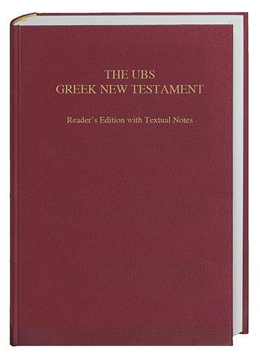 9781598566338: The UBS Greek New Testament, Reader's Edition (Greek Edition)