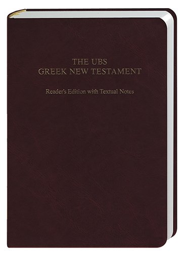 9781598566345: The UBS Greek New Testament: Reader''s Edition with Textual Notes (Brown)