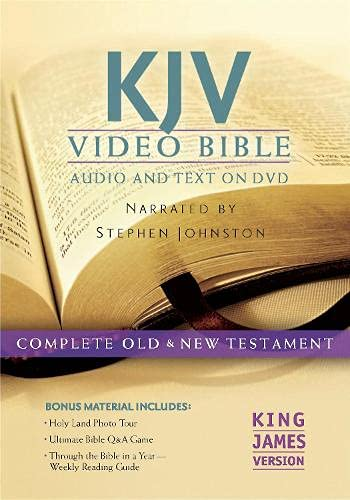 9781598567069: KJV Video Bible: King James Version: Includes Bonus DVD