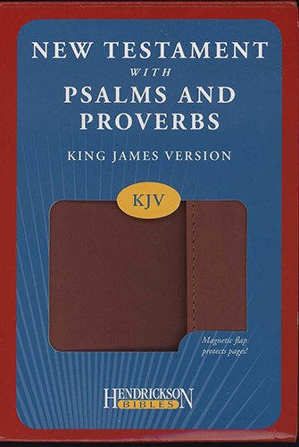 9781598568103: New Testament With Psalms and Proverbs: King James Version New Testament With Psalms and Proverbs, Espresso Flexisoft Leather with Flap