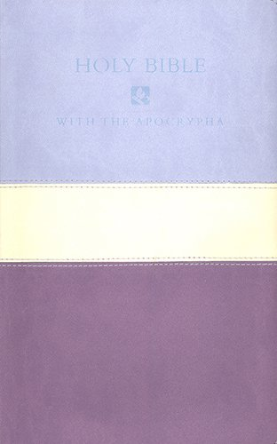 9781598568172: NRSV with the Apocrypha Deluxe Gift Bible - Violet (Nrsv Violet/Lilac Tri Colour)