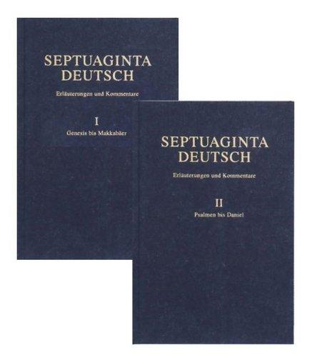 Septuaginta Deutsch: Erlauterungen und Kommentare (Hardback)