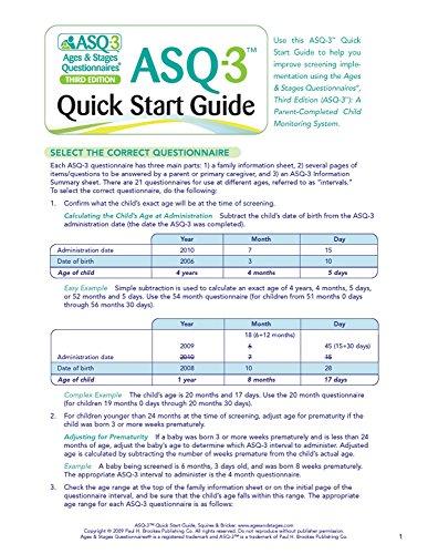 9781598570052: ASQ-3™ Quick Start Guide