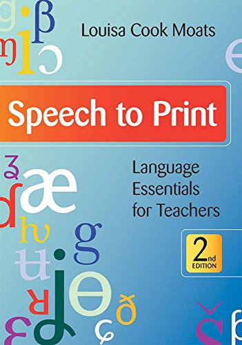 9781598570502: Speech to Print: Language Essentials for Teachers, Second Edition