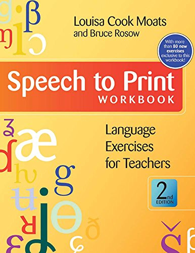 9781598571622: Speech to Print Workbook: Language Exercises for Teachers, Second Edition