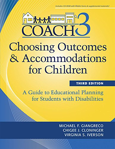 9781598571875: Choosing Outcomes and Accomodations for Children (COACH): A Guide to Educational Planning for Students with Disabilities, Third Edition