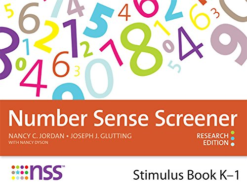 9781598572018: Number Sense Screener(TM) (NSS(TM)) Stimulus Book, K-1, Research Edition