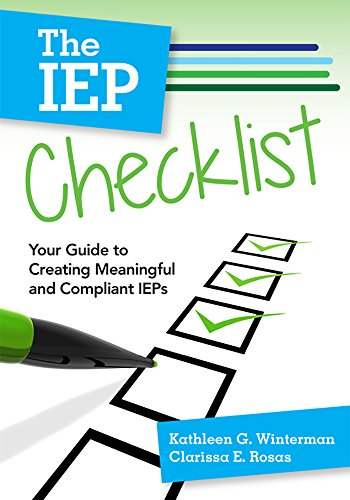 The IEP Checklist: Your Guide to Creating: Winterman Ed.D., Dr.